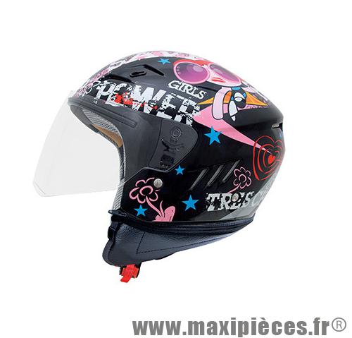 casque moto shiro noir et rose homologu pour enfant fille tm maxi pi ces 50. Black Bedroom Furniture Sets. Home Design Ideas