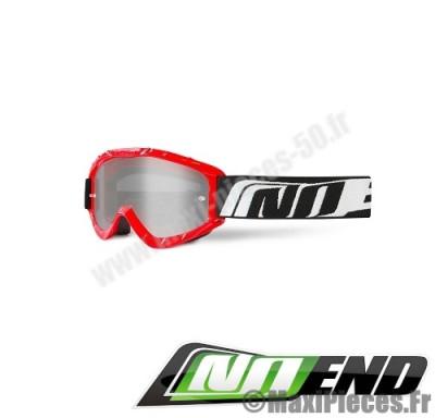 Masque cross Noend taille unique (3.6 SERIES) rouge, blanc et noir