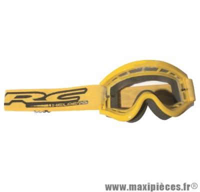 """Masque lunette cross de marque RC Helmets"""" taille unique couleur jaune"""