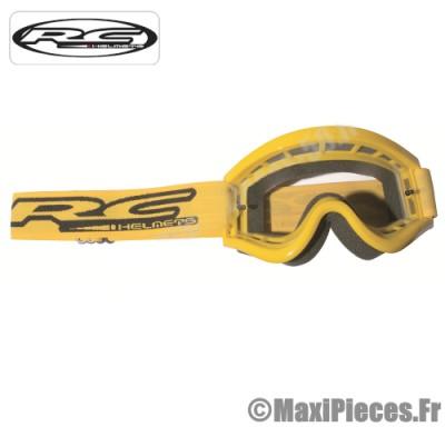 Masque lunette cross de marque «RC Helmets» taille unique couleur jaune