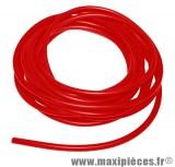fil de bougie diamètre 7mm de couleur rouge (vendu par 0.50 mètre)