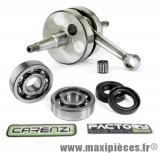 Embiellage/Vilebrequin Carenzi racing masse pleine+roulement et joint spi pour moteur Derbi euro 2 (EBE050) senda x-race x-treme drd sm gilera gsm gpr