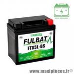 Batterie gel FTX5L-BS 12V 10 AH (équivalente à une YTX5L-BS) prêt à l'emploi sans entretien  (dimension: Lg113 L70 H105)