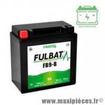 Batterie gel FB9-B 12V 9 AH (équivalente à une YB9-B) prêt à l'emploi sans entretien  (dimension: Lg135 L75 H139)