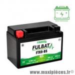Batterie gel 12V 8 ah FTX9-BS (équivalente à une YTX9-BS) prêt à l'emploi sans entretien (dimension: Lg150xL87xH105)