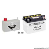Batterie pour moto scooter cyclomoteur quad YB4L-B 12V 4ah (LG120 L70 H 92) livrée avec acide