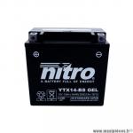 Batterie gel AGM 12v 12ah (YTX14-BS) sans entretien prêt à l'emploi (dimension: Lg150xL86xH145)