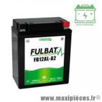 Batterie gel FB12AL-A2 12V 12 AH (équivalente à une YB12AL-A2) prêt à l'emploi sans entretien  (dimension: Lg134 L80 H160)