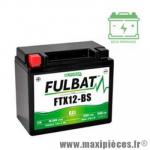 Batterie gel FTX12-BS 12V 10 AH (équivalente à une YTX12-BS) prêt à l'emploi sans entretien  (dimension: Lg150 L87 H130)