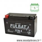 Batterie gel FT7B-4 (BS) 12V 6,5 AH (équivalente à une YT7B-4 (BS) prêt à l'emploi sans entretien  (dimension: Lg150 L65 H93)