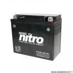 Batterie gel NTX20L-BS 12V 18 AH (équivalente à une YTX20L-BS) prêt à l'emploi sans entretien  (dimension: Lg175 L85 H155)
