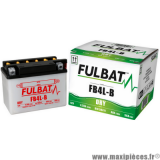 BATTERIE MOTO/SCOOTER/CYCLOMOTEUR/QUAD YB4L-B FULBAT 12V 4AH (SCOOTER 50) LG120 L70 H 92 ACIDE INCLUS