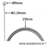 Câble d'embrayage (9X9 23/10 2M50) pour moto, 50 à boite…