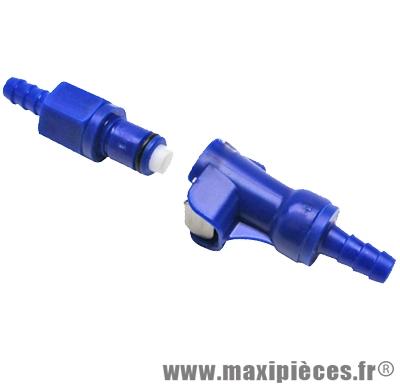 Raccord connecteur coupe sécurité rapide pour durite essence Ø6mm