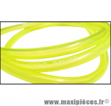 Durite d'essence jaune fluo transparente Voca racing (extensible Ø intérieur 5mm par 8mm extérieur/vendu par 1 mètre)