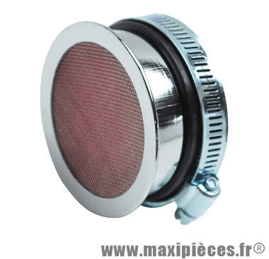filtre a air adaptable sha cornet chrome element filtrant diam:56-59mm