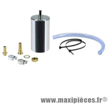 Poumon d'alimentation gas box chromé avec fixations+connecteur+durite+ collier