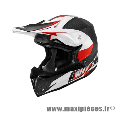 Casque cross Noend Defcon by ocd taille S (55-56 cm) blanc et rouge