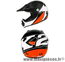 Casque cross enfant Helmet X2 noir/orange taille S(48)