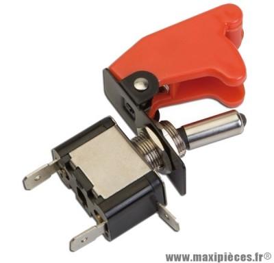 Interrupteur de sécurité / coupe circuit universel loquet rouge avec led rouge