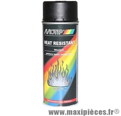 Bombe de peinture haute température (650°) noir
