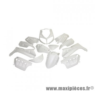 Kit carrosserie carénage blanc brillant pour scooter peugeot speedfight 2 (sélection Tuning)