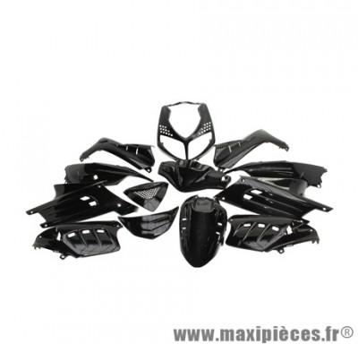 Kit carrosserie carénage noir brillant pour scooter peugeot speedfight 2 (sélection Tuning)