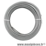 Gaine a fil plat argenté en rouleau de 25 mètres Diamètre extérieur 5mm/intérieur 3mm