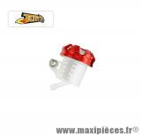 Bocal Maître cylindre de frein Universel avec bouchon en alu rouge pour moto & scooter