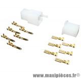 Connecteur électrique plastique 6 fiches (mâle/femelle)