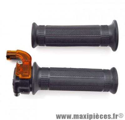 Poignée de gaz targa mini noir pour cyclomoteur