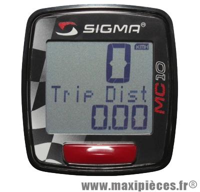Compteur digital Sigma MC 10 universel pour moto scooter mobylette quad... (kit complet prêt a monter)