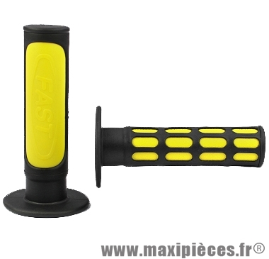 Déstockage ! Paire de poignées Fast noir et jaune