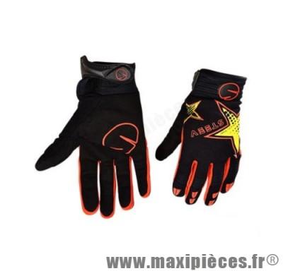 Gants enfant steev été redtars noir et orange taille 05 (XXXS)