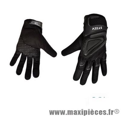 gants moto t steev noir taille 7 xs pour scooter quad mob maxi pi ces 50. Black Bedroom Furniture Sets. Home Design Ideas