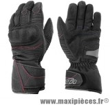 Gants hiver GTR Blizzard (taille S) waterproof coques black pour scooter, moto, quad, cyclomoteur…