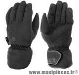 Gants hiver GTR ICE waterproof (taille XXL) black pour scooter, moto, quad, cyclomoteur…