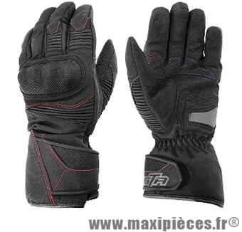 Gants hiver GTR Blizzard (taille L) waterproof coques black pour scooter, moto, quad, cyclomoteur… (Produits pour le sport/loisir)
