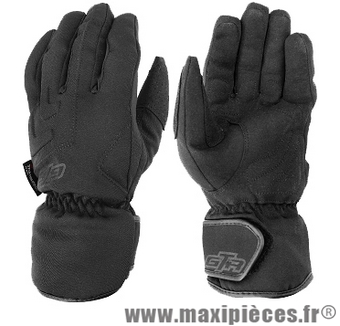 Gants hiver GTR ICE waterproof (taille S) black pour scooter, moto, quad, cyclomoteur…