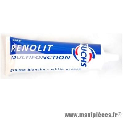 Déstockage Graisse blanche multifonction tube de 250g pour: scooter, 50 à boite, cyclo, moto, quad, ect...