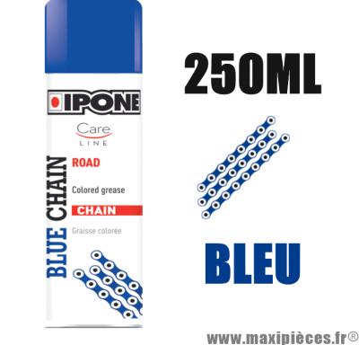 Sprays/graisse à chaîne lubrifiants ipone blue chain (250ml) couleur bleu