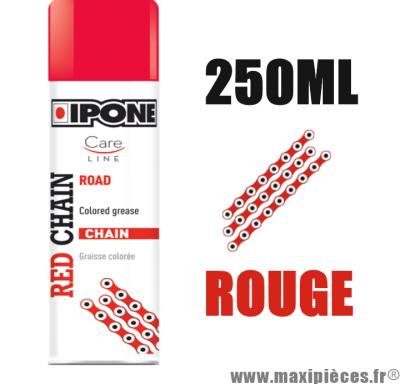 Sprays/graisse à chaîne lubrifiants ipone red chain (250ml) couleur rouge