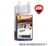 Prix spécial ! Huile self oil fraise semi-synthèse ipone pour 2t scooter 50 à boite cyclomoteur moto ...