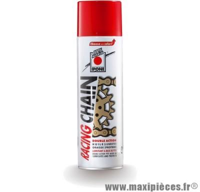 sprays lubrifiants chaîne ipone cyclo 50 à boite moto quad ... (500ml) blanc
