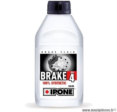 Fluide de frein brake dot4 ipone pour 50 à boite scooter cyclomoteur moto quad ...