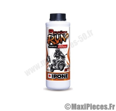huile ipone scoot run2 100% synthèse 2t sportifs scooters moto cyclo ...
