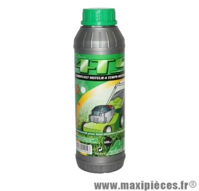 Déstockage ! Huile de synthèse moteur 4 temps Minerva pour motoculture (0.6L)