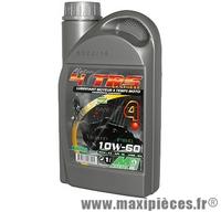 Huile moteur 4 temps 10w60 Minerva pour moto (bidon de 1L)