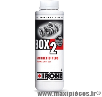 huile de boite ipone box 2 synthetic plus pour 2t 50 à boite scooter moto ...