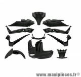 Kit carrosserie noir brillant pour yamaha x-max 125 mbk skycruiser (11 pièces)